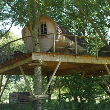 La cabane tonneau au Coup de Canon