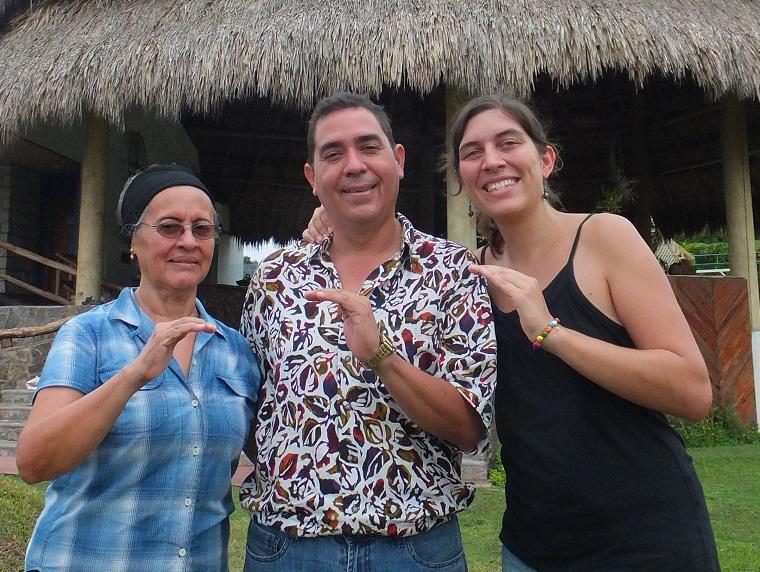 Casa Nery, Florie avec Hector Nery et Nidia sa maman