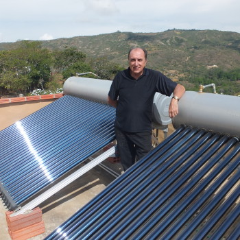 Active Solar Water Heater Terra Barichara Colombia
