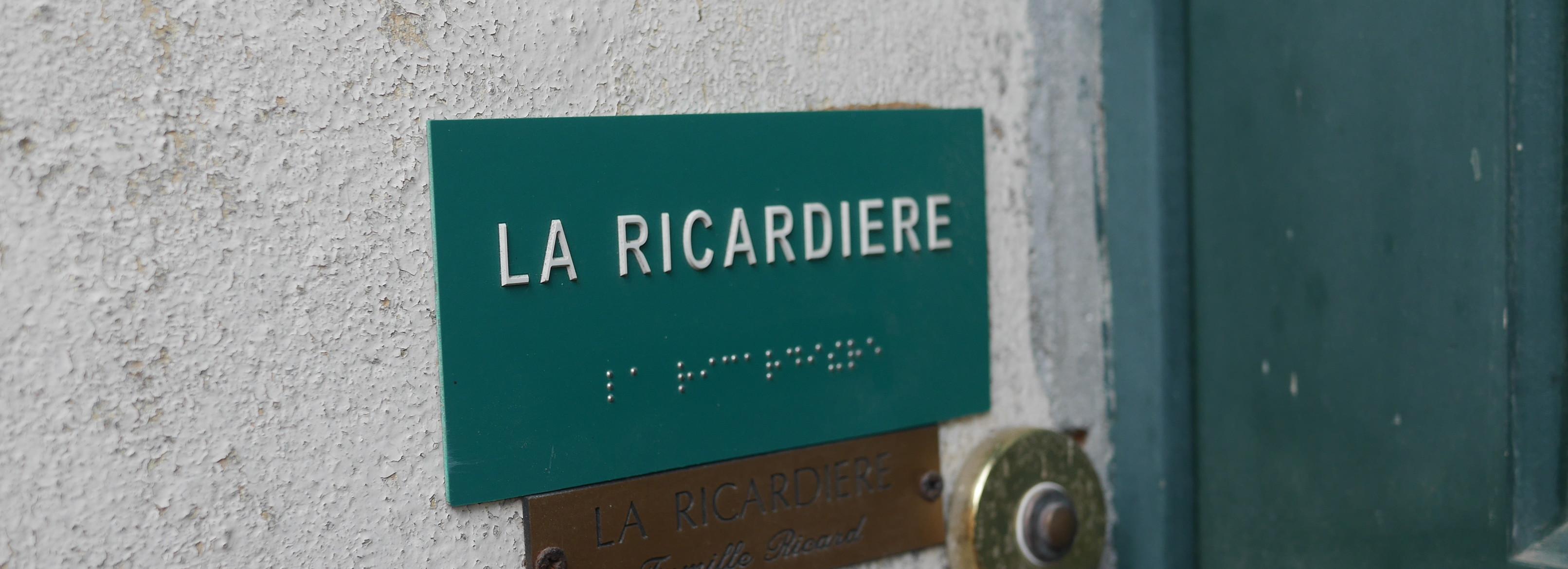 La Ricardière, accessible aux non / mal voyants