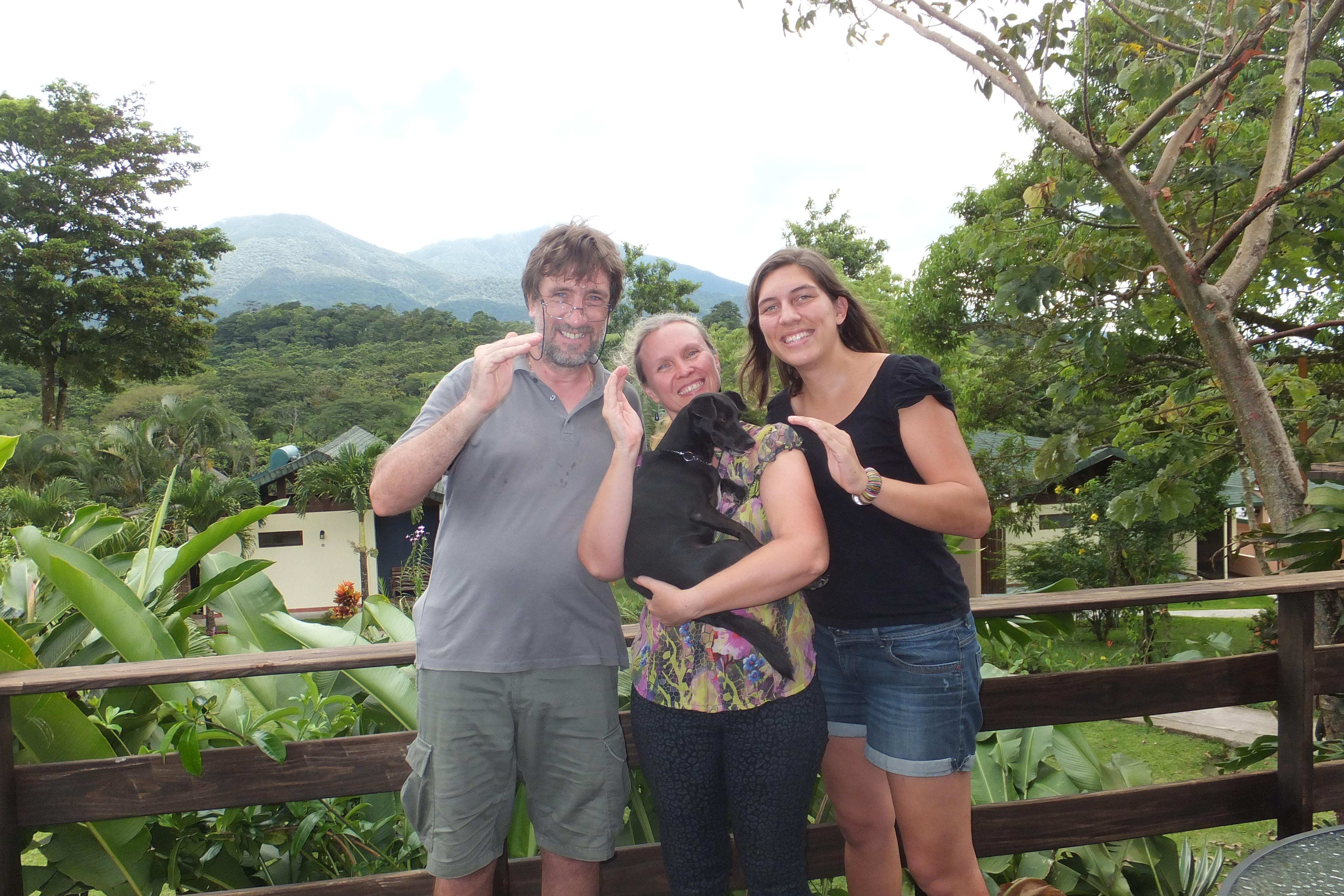 Franck, Christine et Florie au Tenorio Lodge Costa Rica