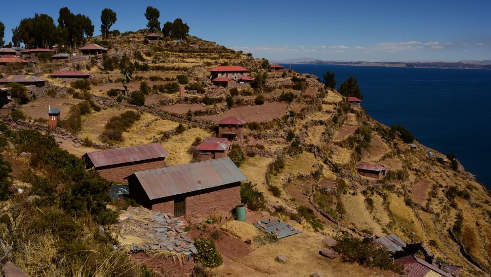 Ile de Taquile sur le lac titicaca au Pérou
