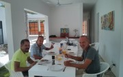 Déjeuner avec l'équipe d'Aqua Viva Tulum