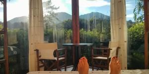 Vue depuis le lit de la chambre - Tenorio Lodge, Costa Rica