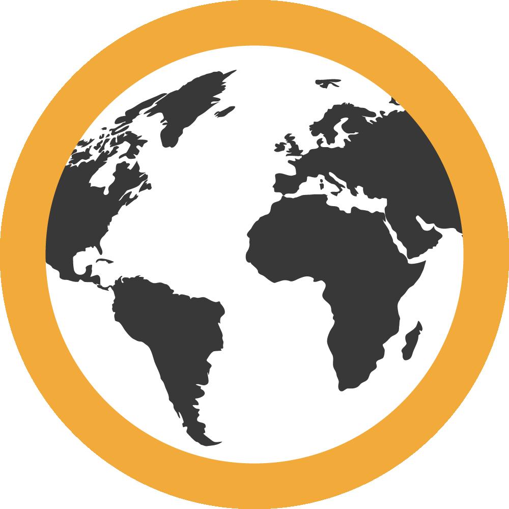 Para Europa, Africa, Oceanía o América del Norte