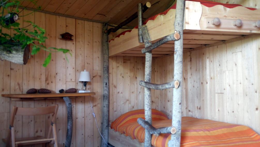 Interieur cabane, Manoir du Reposoir