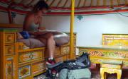 Yurt inside, Moulin de la Jarousse