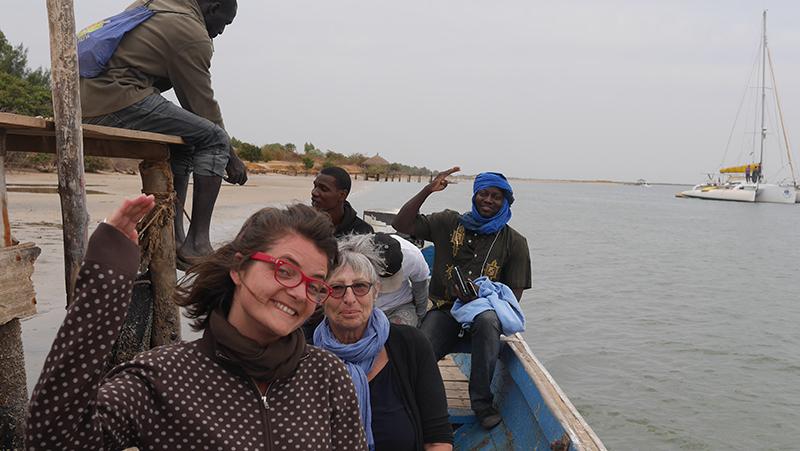 Départ d'Essamaye en pirogue