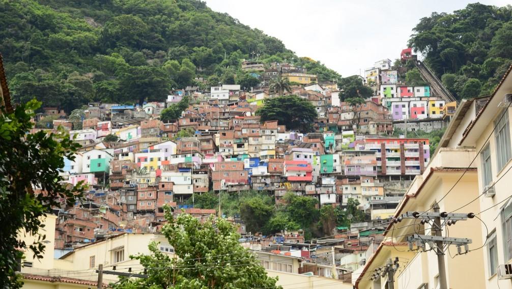 Favela Scene, Santa Marta, Rio de Janeiro