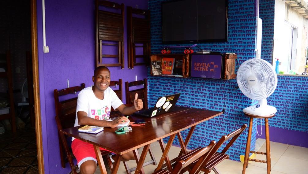 Salon, Favela Scene, Santa Marta, Rio de Janeiro