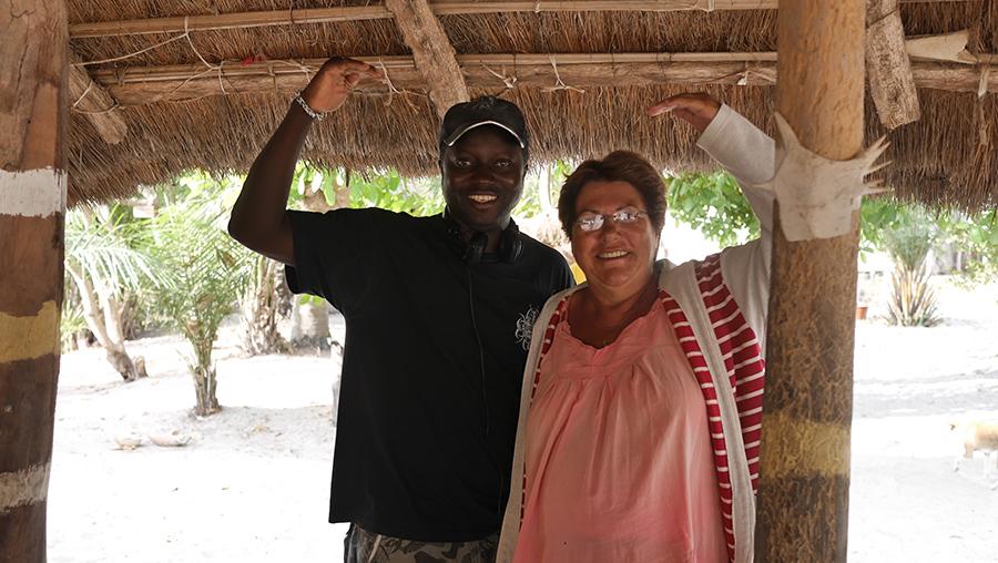 Xavier et une cliente du campement Alouga